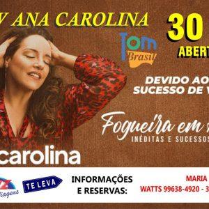 30/11 – Show Ana Carolina